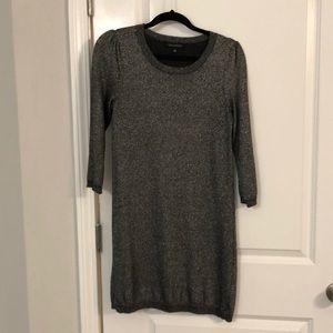Black metallic Banana Republic sweater dress
